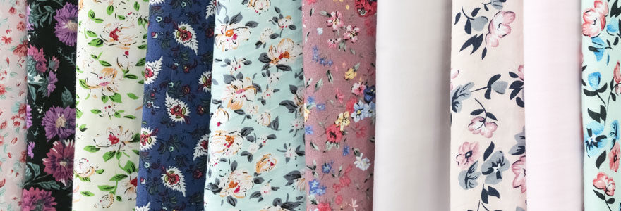 tissu ameublement motif floral